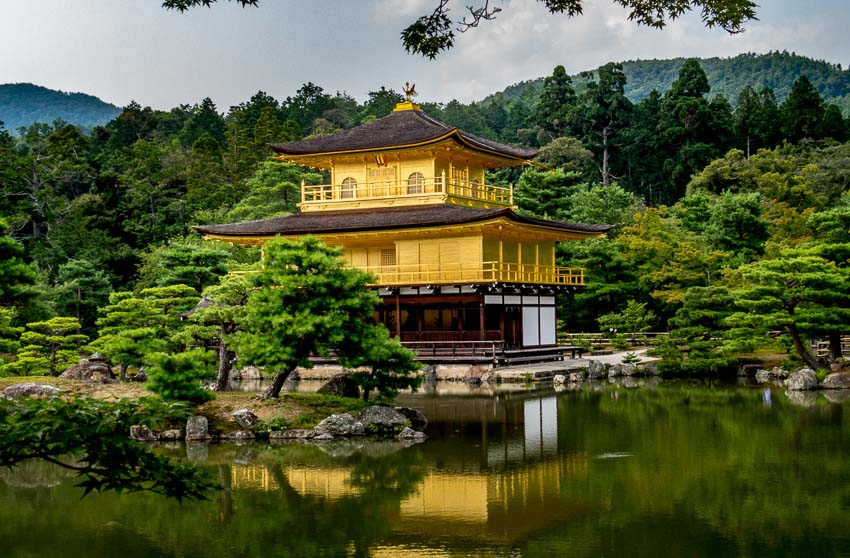 One last photograph of the Golden Pavilion - Kyoto, Japan