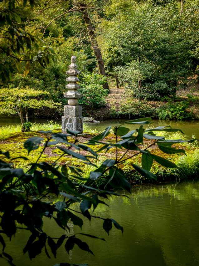 Stone pagoda at the Golden Pavilion compound - Kyoto, Japan