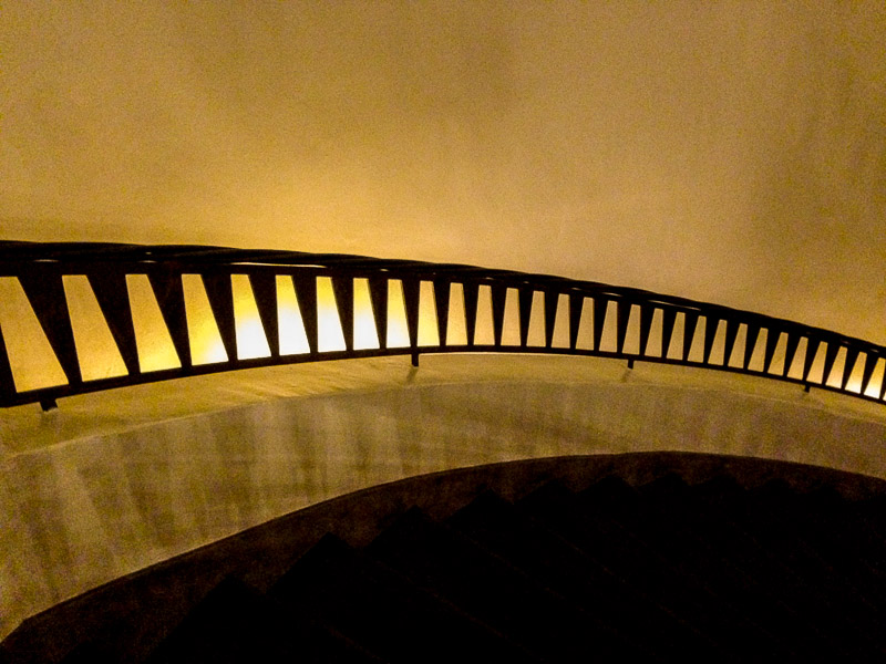 The spirial staircase at The Different Pointe of View Restaurant, Phoenix, AZ