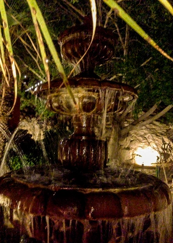 The tranquil fountains at The Different Pointe of View Restaurant, Phoenix, AZ