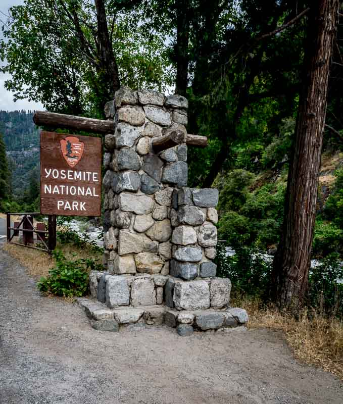Yosemite National Park Sign, El Portal, CA