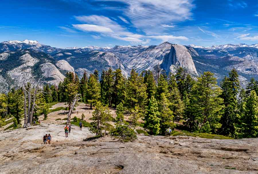 View of Half Dome from atop Sentinel Dome