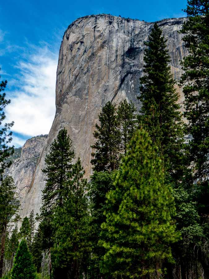 El Capitan's eastern exposure