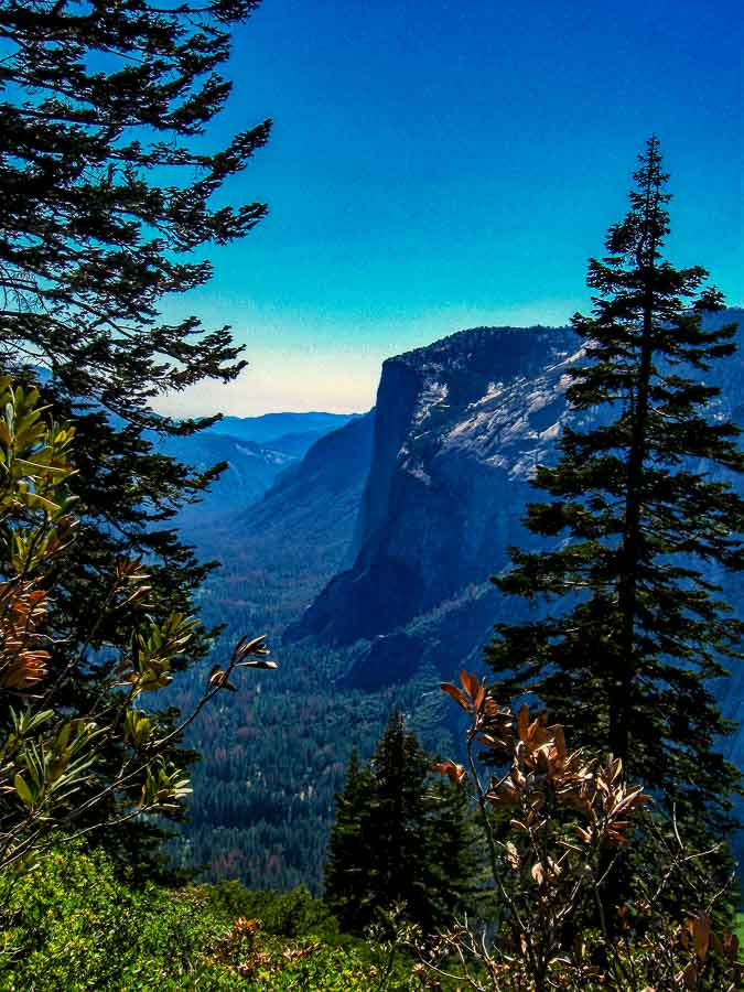 El Capitan as seen from the Four Mile Trail