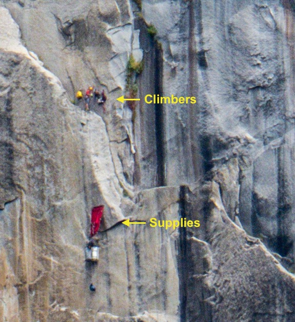 Rock climbers on El Capitan