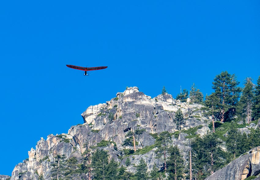 Hang Glider over Cliff