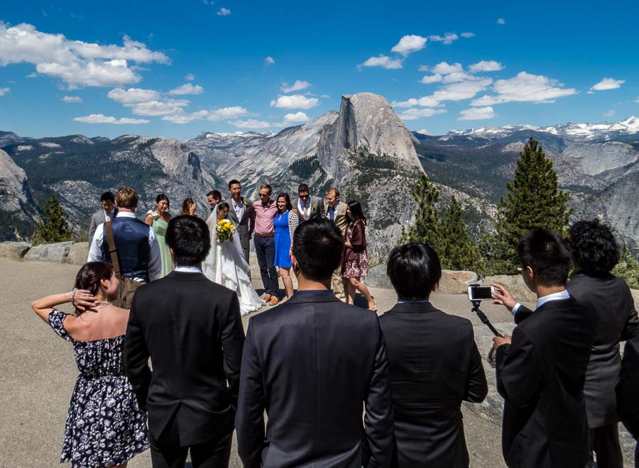 Wedding at Glacier Point, Yosemite
