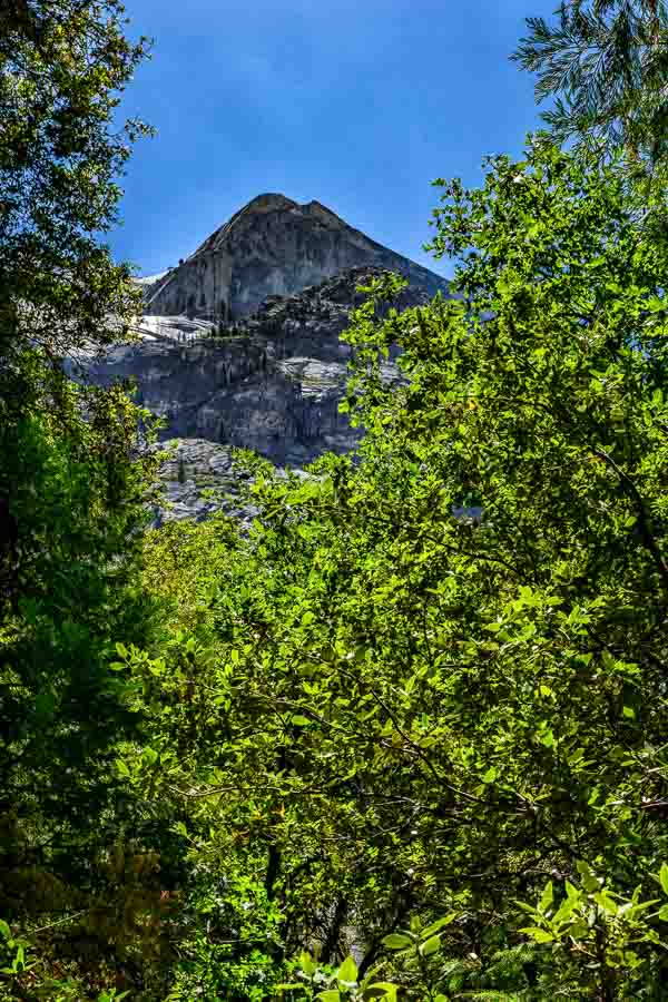 Half Dome viewed from the Mirror Lake Trail
