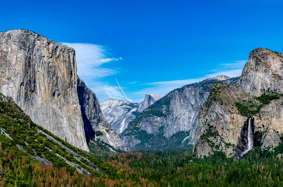 Half dome, El Capitan and Bridalveil Fall