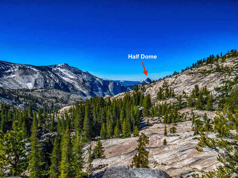 Half Dome hides among other features