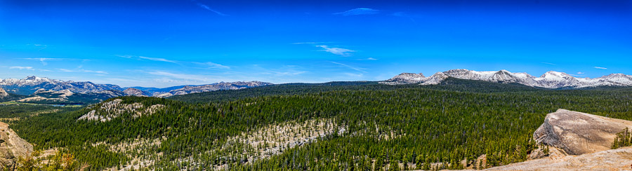 A panorama taken on top of Lembert Dome