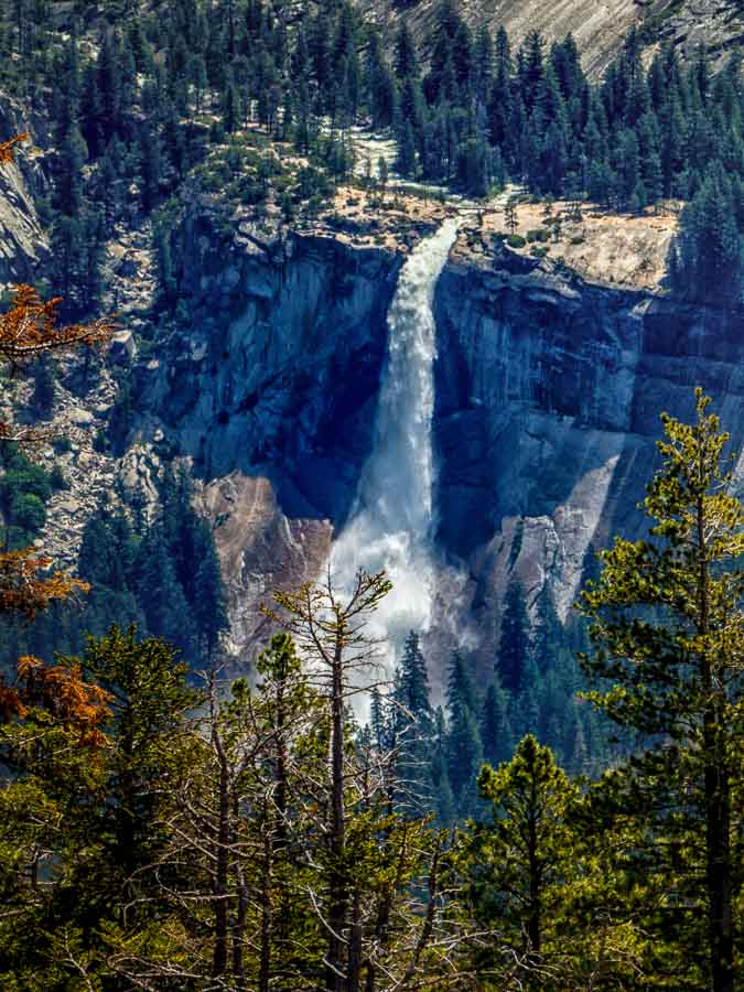 Vernal Fall viewed from the top of Sentinel Dome
