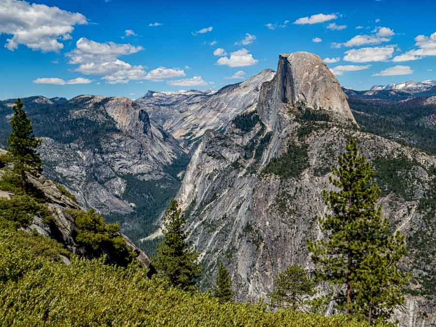 Half Dome dominates the views from Glacier Point