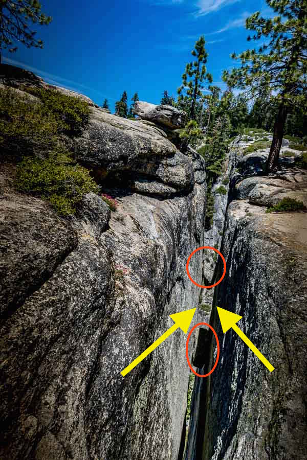 Taft Point Fissures Annotated