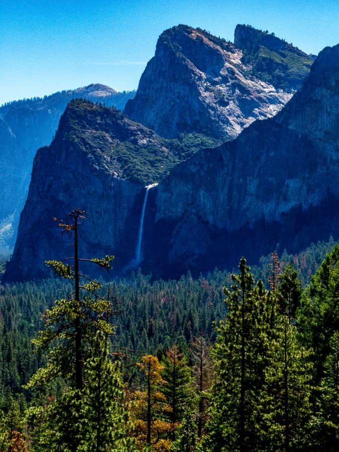 Three Brothers and Bridalveil Falls from Tunnel View