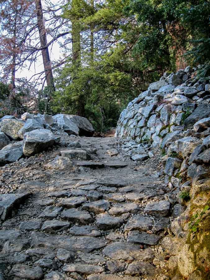 Typical view of a Yosemite Trail