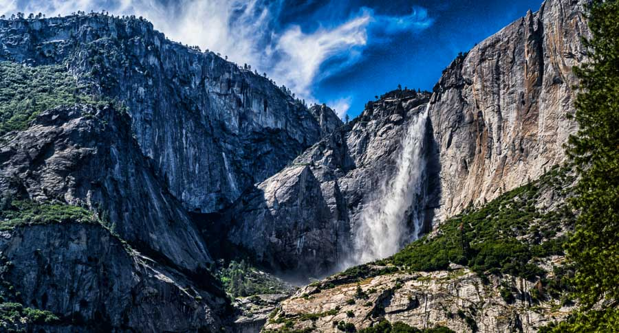 Yosemite Falls from afar