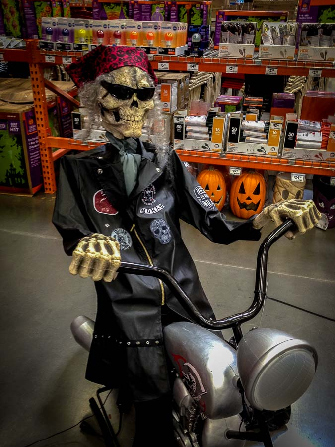 Bikers, even those no longer among us seem to like Halloween.