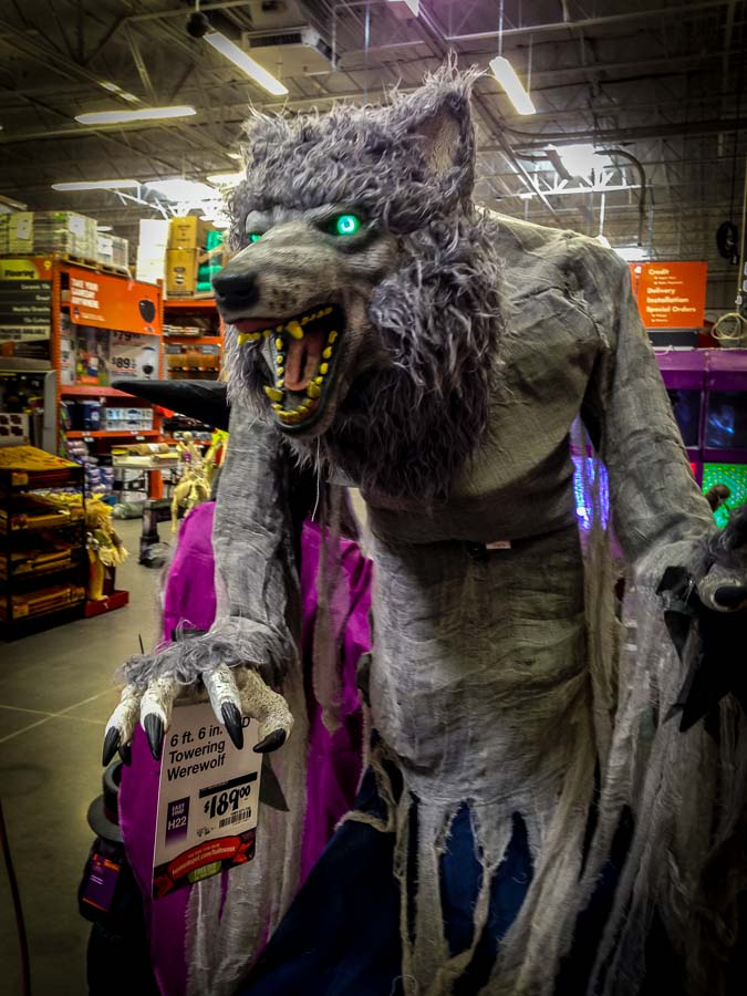 Werewolf decoration for Halloween courtesy of Home Depot