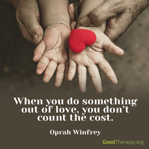 Oprah Winfrey quote about love and cost