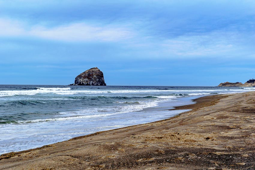 Haystack Rock, Pacific City - from a distance