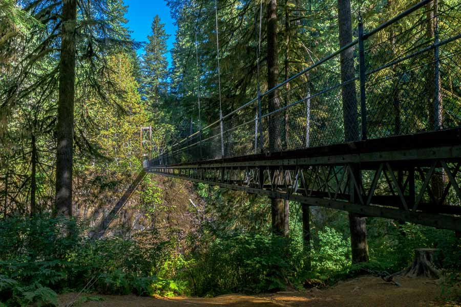 Superstructure of Drift Creek Falls Suspension Bridge