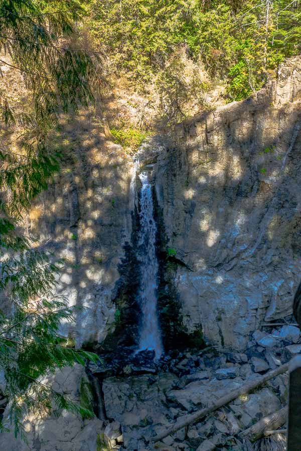 A less than dramatic view of Drift Creek Falls