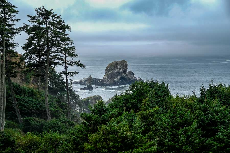 Sea Lion Rock awaits around the bend