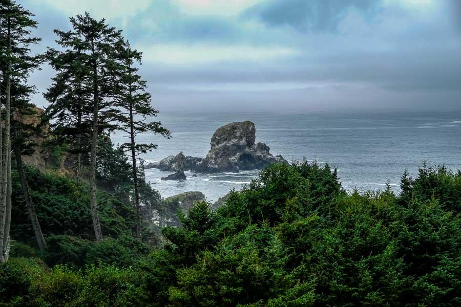Sea Lion Rock awaits around the bend