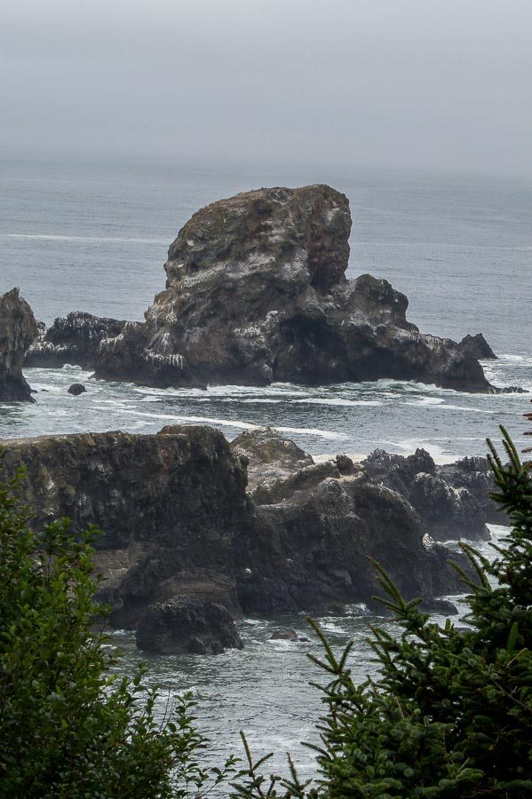 Craggy beauty surrounds the cove