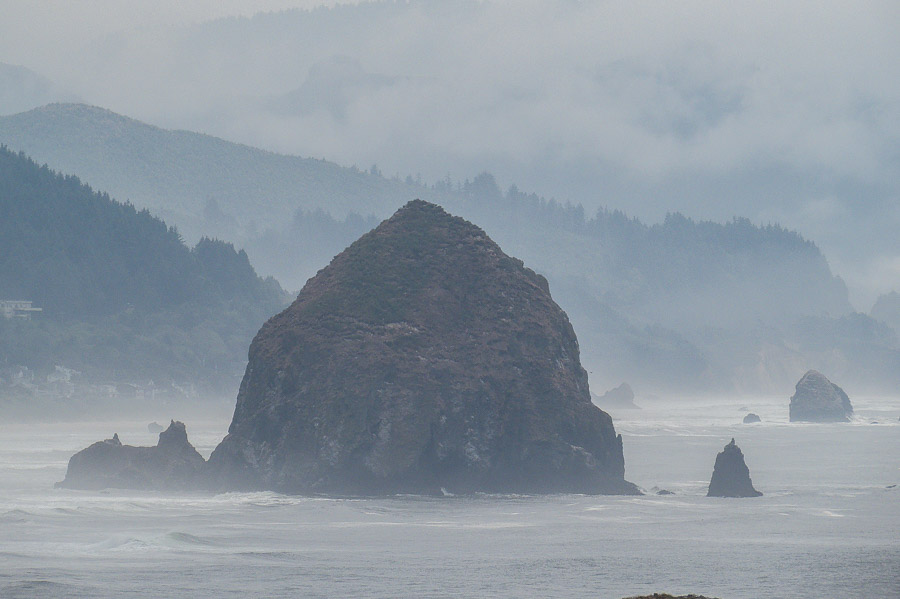 Haystack Rock is the iconic feature of Cannon Beach