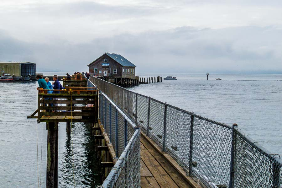 Garibaldi's pier beckons fishermen.