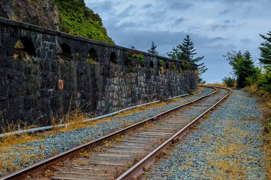 A bend in the railroad tracks
