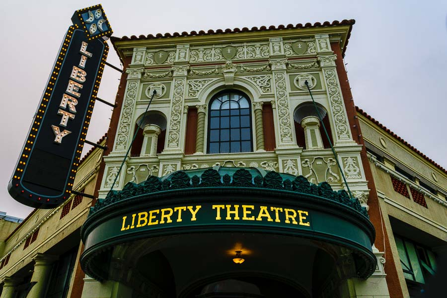 Exterior facade of the Liberty Theater