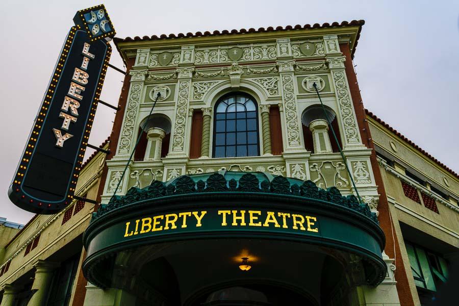 Exterior facade of the Liberty Theater