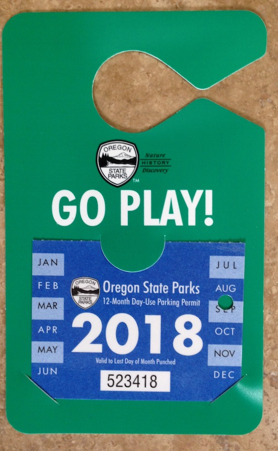 Oregon State Parks parking permit