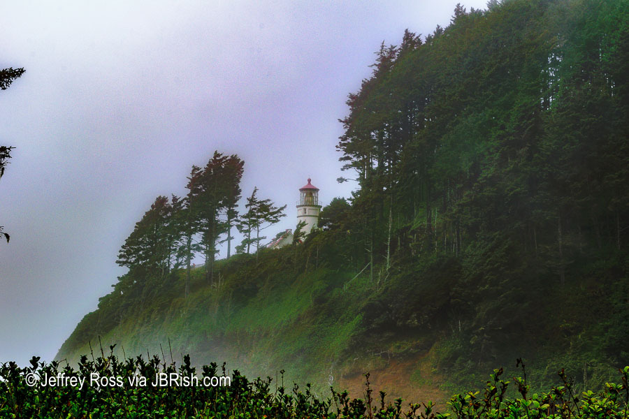 A sneak peak of the lighthouse from the path