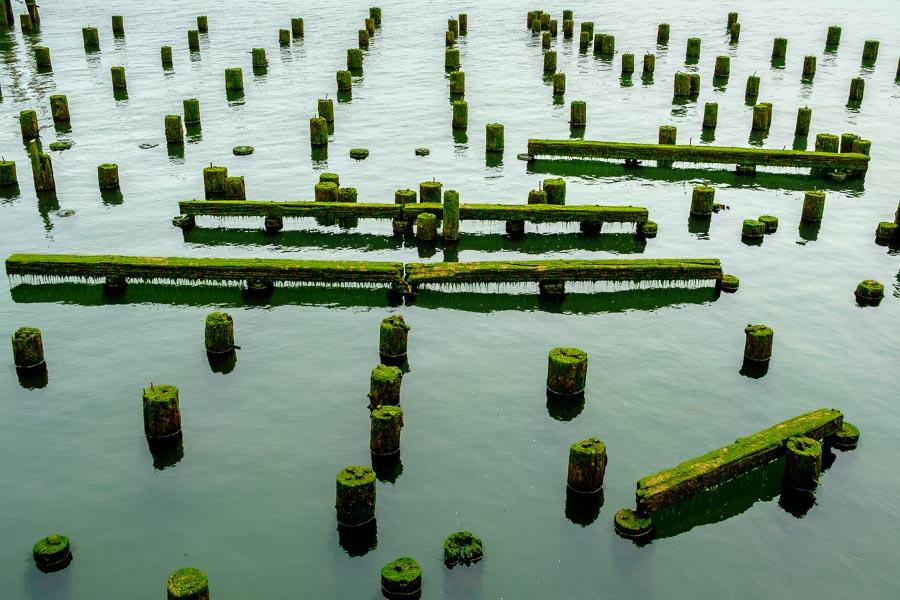Remnants of once bustling pier