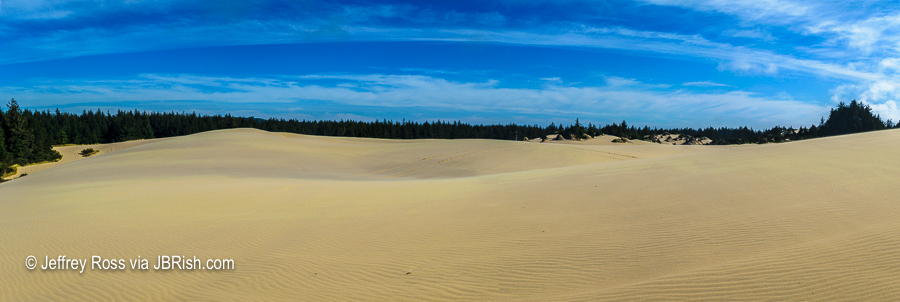 panorama of the sand dunes