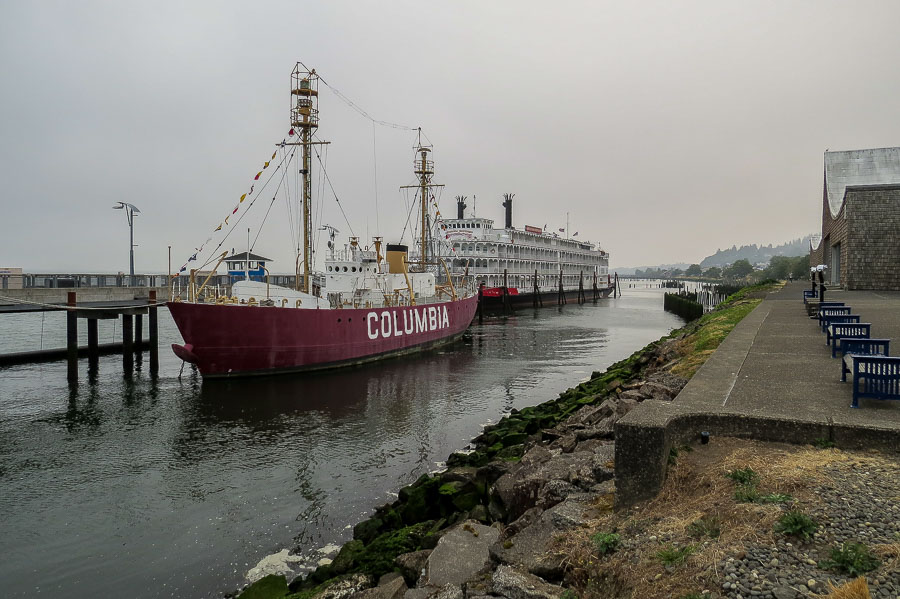 Paddleboat Steamship anchored in Astoria