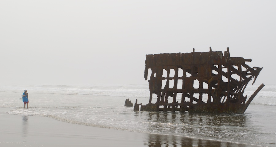 People can get very close to the remnants of the Peter Iredale