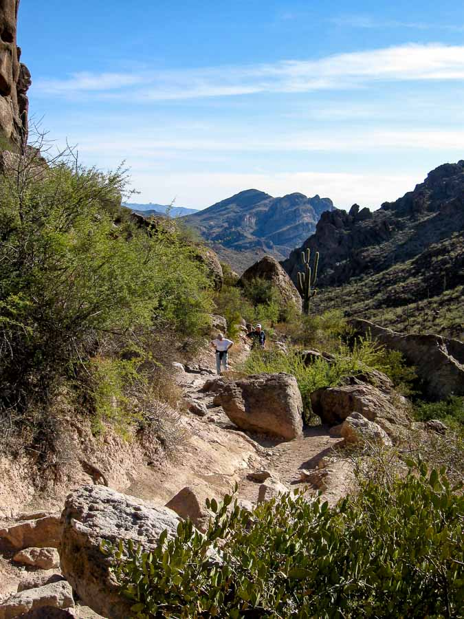 Hikers along the Peralta Trail