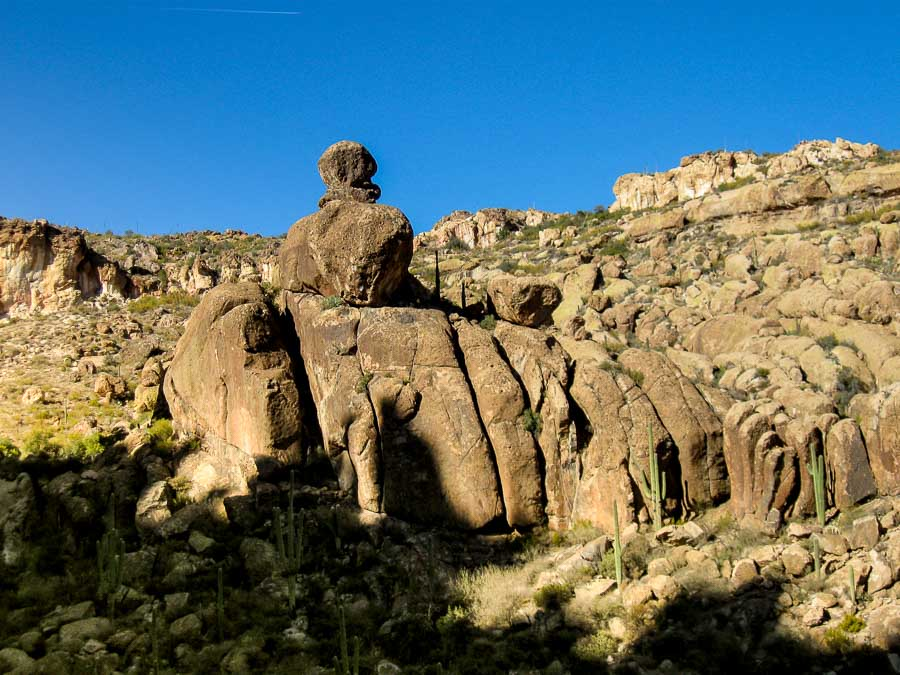 Large rock formation along the Peralta Trail