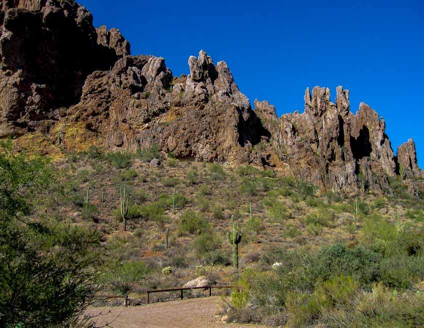 The Peralta Trail Trailhead
