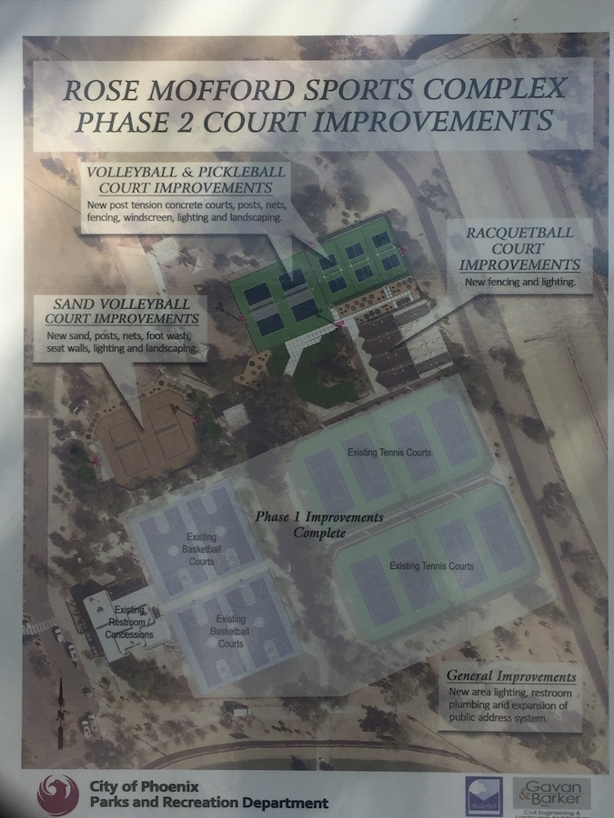 Pickleball Sign at Rose Mofford Sports Complex