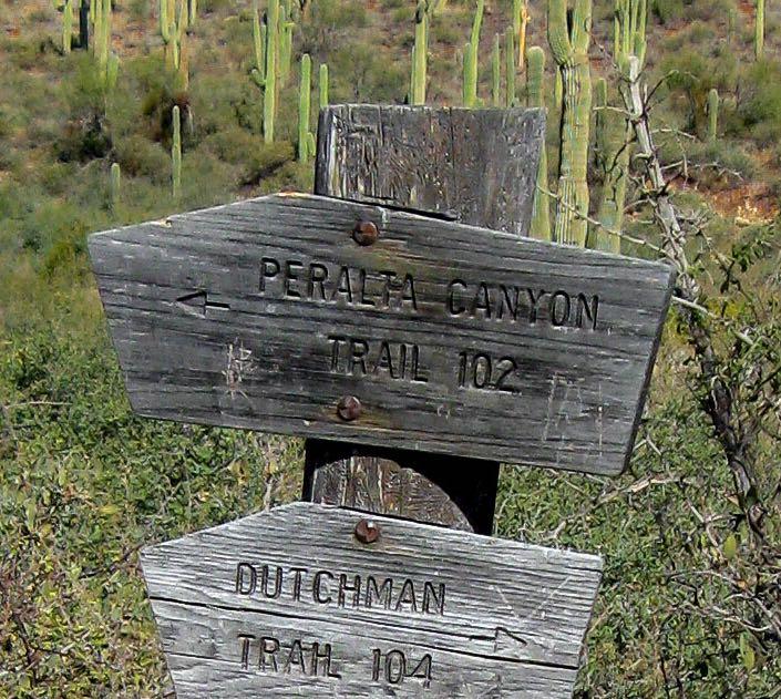 Signpost closeup