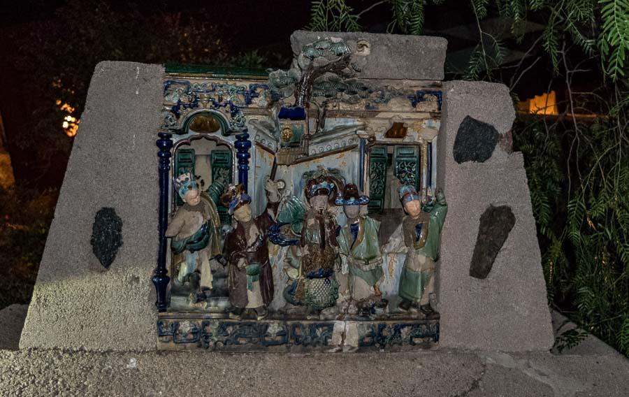 Decorative Chinese theater scene