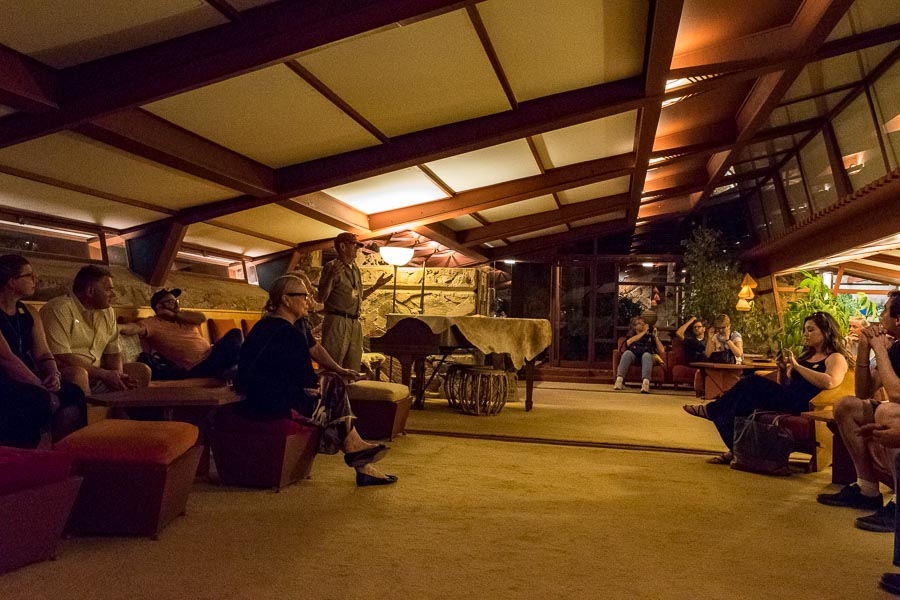 The living room at Taliesin West