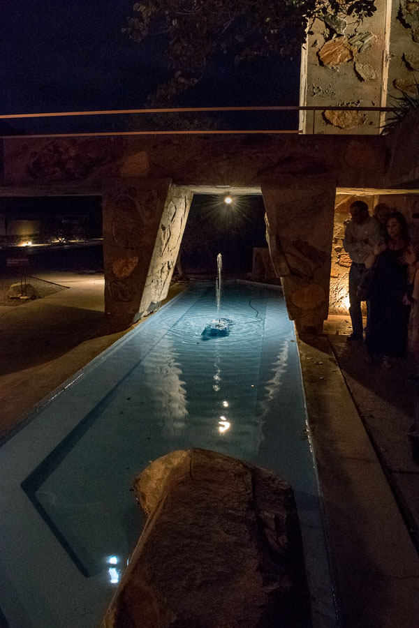 Refelecting pool outside the Kiva