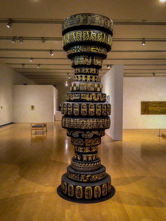 Tire column representing migration of ancient civilizations